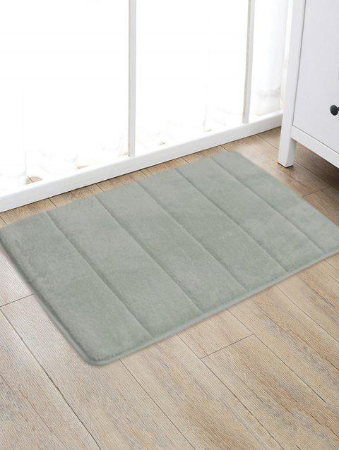 Solid Color Water Absorption Area Rug - LIGHT GRAY