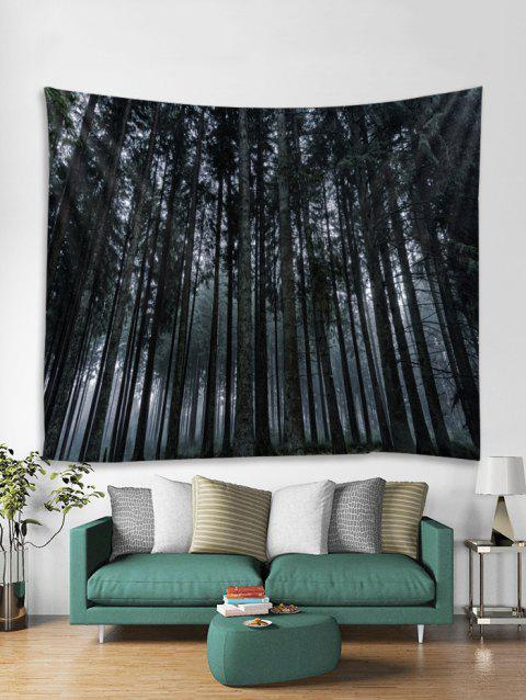 Wall Art Forest Print Hanging Tapestry - ASH GRAY W59 X L59 INCH