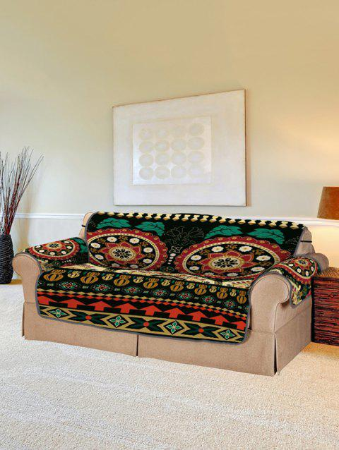 Vintage Flower Couch Cover - multicolor TWO SEATS
