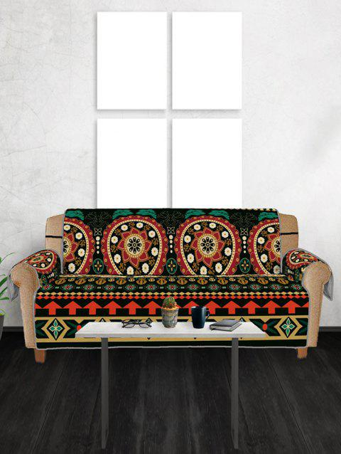 Vintage Flower Couch Cover - multicolor THREE SEATS