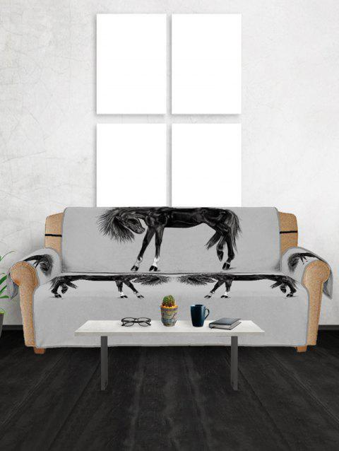 Horse Pattern Couch Cover - multicolor THREE SEATS