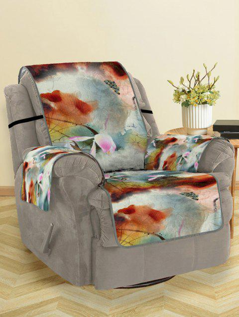 Lotus Pattern Couch Cover - multicolor SINGLE SEAT