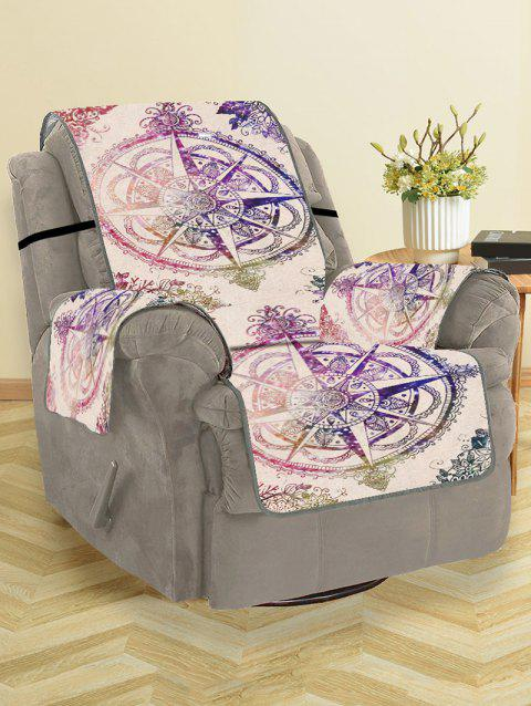 Compass Star Pattern Couch Cover - PURPLE SINGLE SEAT
