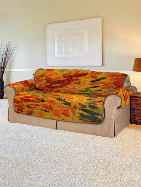 Abstract Pattern Couch Cover - multicolor TWO SEATS