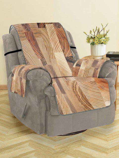Wood Grain Pattern Couch Cover - WOOD SINGLE SEAT