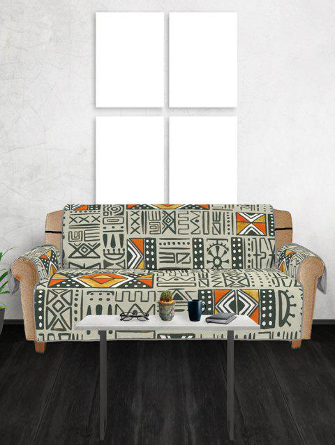 Tribal Pattern Couch Cover - multicolor THREE SEATS
