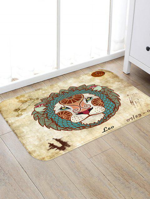 Leo Pattern Water Absorption Area Rug - GOLDENROD W16 X L24 INCH