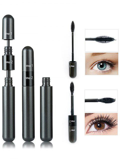 2 in 1 Long Extension Curled Mascara - BLACK BLACK