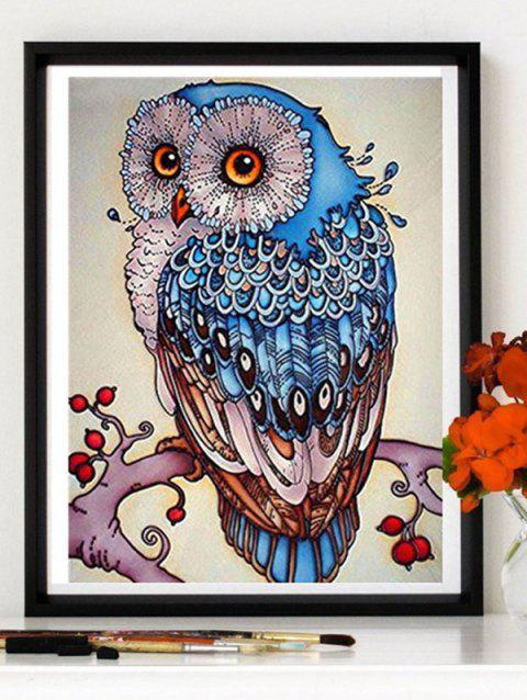 DIY Owl Stick Bead Wall Art For Home Decor - multicolor A