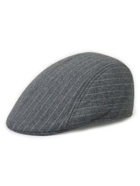 Casual Striped Decoration Beret - GRAY