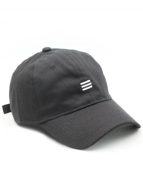 Simple Style Solid Baseball Hat - BLACK