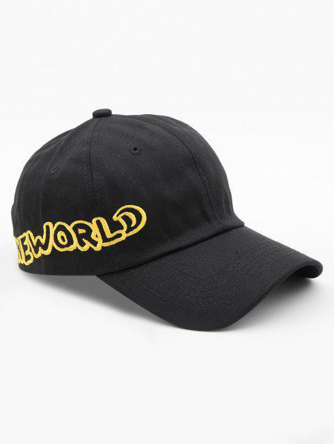 One World Embroidery Sports Cap - BLACK