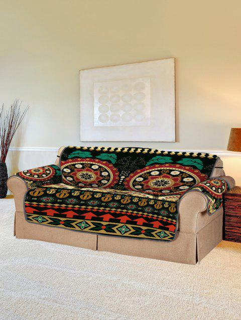 Bohemian Mandala Flower Pattern Couch Cover - multicolor TWO SEATS