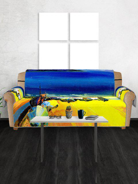 Drawing Pattern Couch Cover - multicolor THREE SEATS