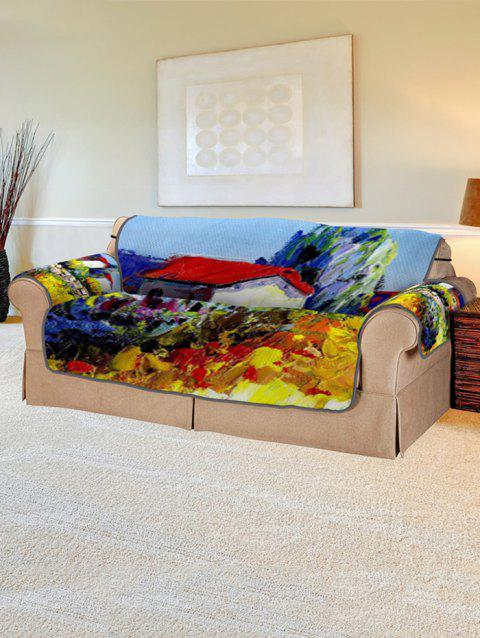 Drawing Pattern Couch Cover - multicolor TWO SEATS
