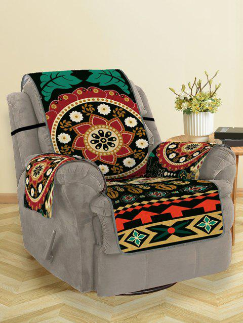 Bohemian Mandala Flower Pattern Couch Cover - multicolor SINGLE SEAT