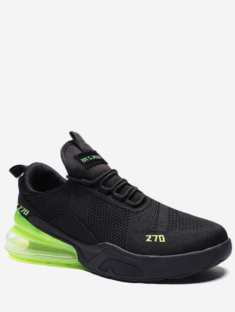 Color Block Knitted Running Sneakers - GREEN EU 43