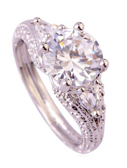 Artificial Crystal Ring - WHITE US 7