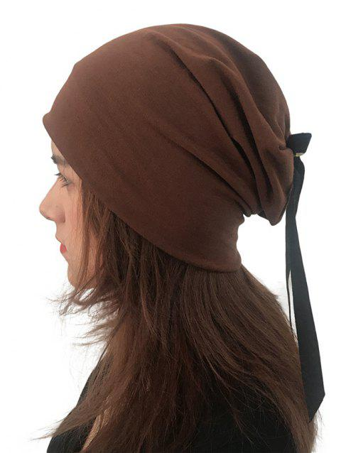 Bowknot Design Cotton Hat - COFFEE 1PC