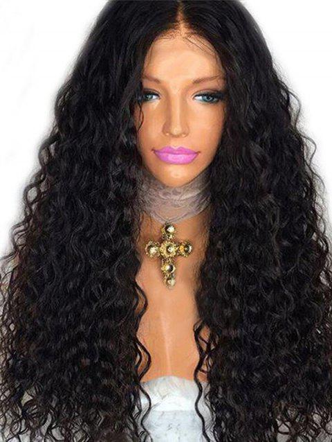 Middle Part Long Deep Wave Party Synthetic Wig - NATURAL BLACK