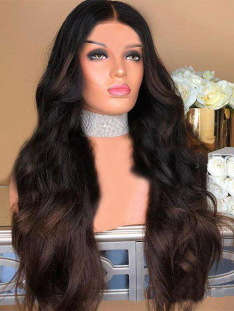 Long Center Parting Colormix Body Wave Party Synthetic Wig - multicolor