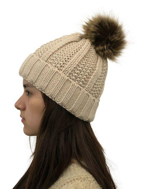 Winter Durable Knitted Hat - BEIGE 1PC