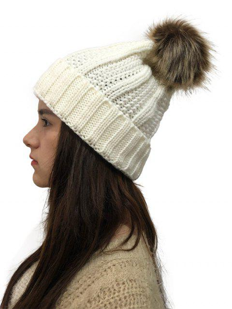 Winter Durable Knitted Hat - WHITE 1PC