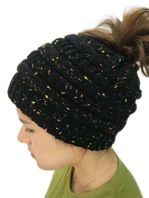 Unisex Durable Winter Knitted Hat - BLACK 1PC