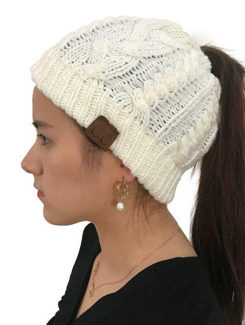 Winter Knitted Simple Style Hat - WHITE 1PC
