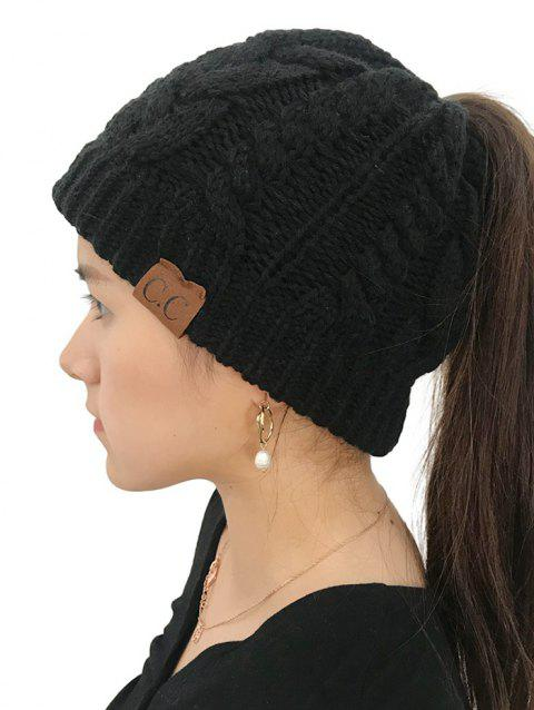 Winter Knitted Simple Style Hat - BLACK 1PC