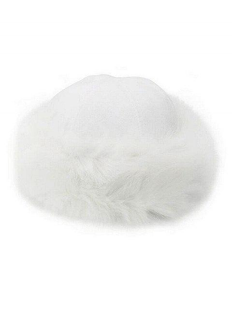 Winter Faux Fox Fur Luxury Hat - WHITE ONE SIZE