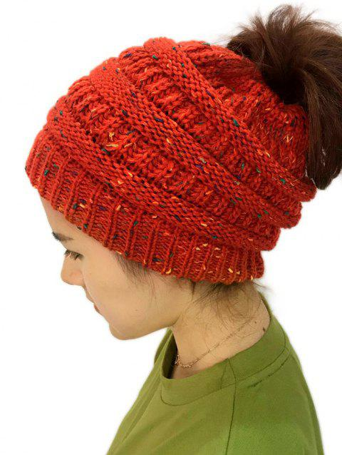 Unisex Durable Winter Knitted Hat - LAVA RED 1PC