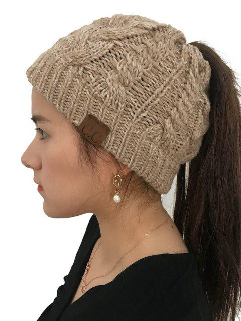 Winter Knitted Simple Style Hat - LIGHT KHAKI 1PC