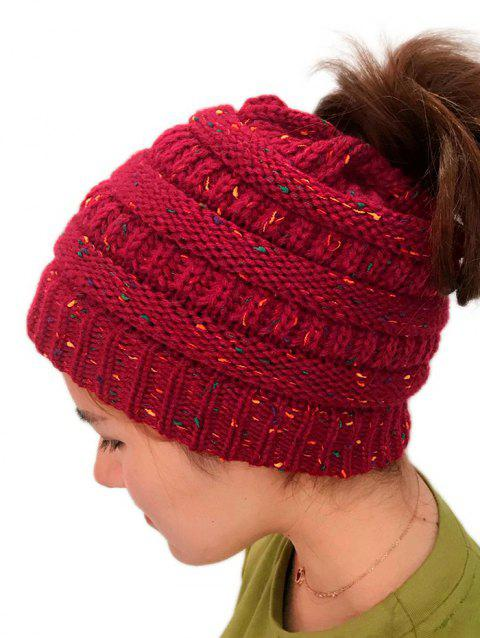 Unisex Durable Winter Knitted Hat - RED 1PC