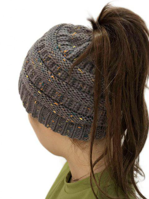 Unisex Durable Winter Knitted Hat - GRAY 1PC