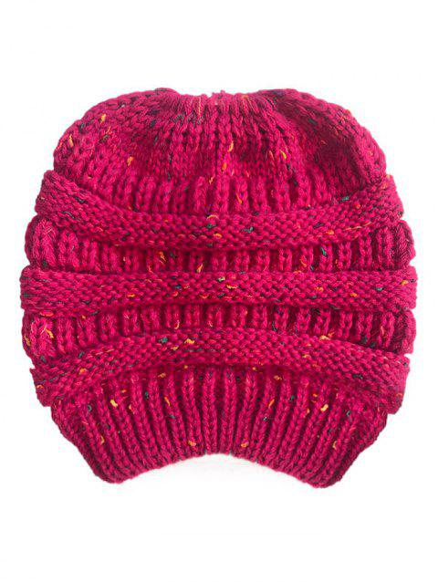 Unisex Durable Winter Knitted Hat - ROSE RED 1PC