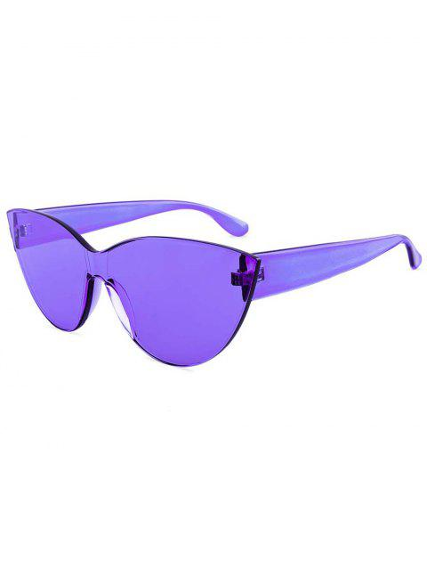 Jelly Color Frameless Beach Sunglasses - PURPLE