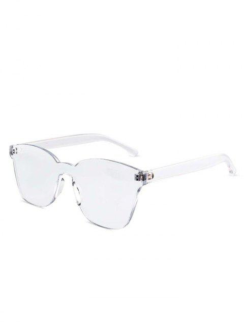 Candy Color Anti UV Square Rimless Sunglasses - TRANSPARENT