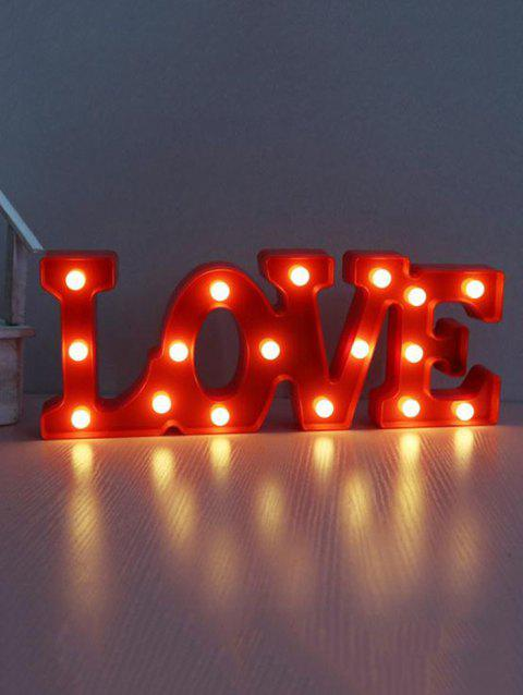 Valentines Day LOVE Shape LED Night Light - RED