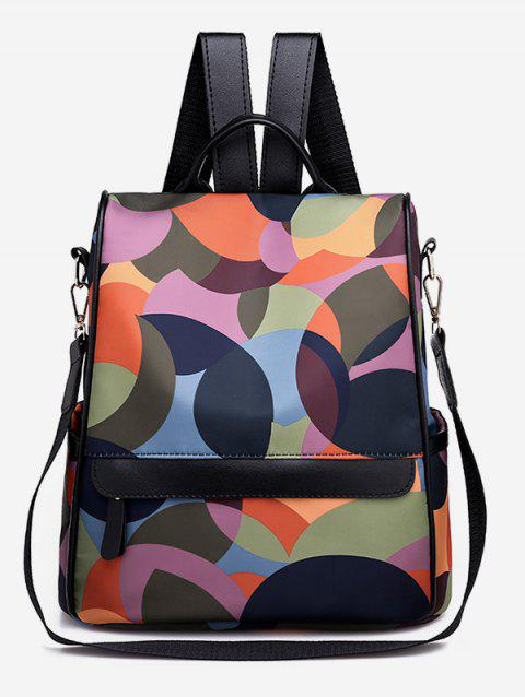 Color Block Multi Functional Backpack - multicolor