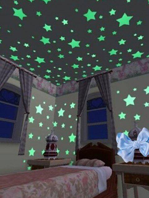 Luminous Star Bedroom Fluorescent Wall Stickers - GREEN YELLOW