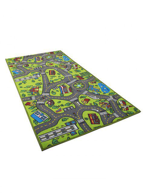 Traffic Safety Education Carpet Toy - multicolor A