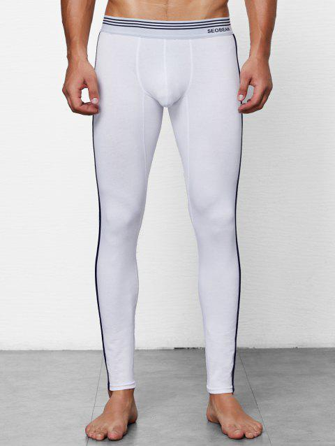 Close-fitting Solid Color Long Johns - WHITE 2XL
