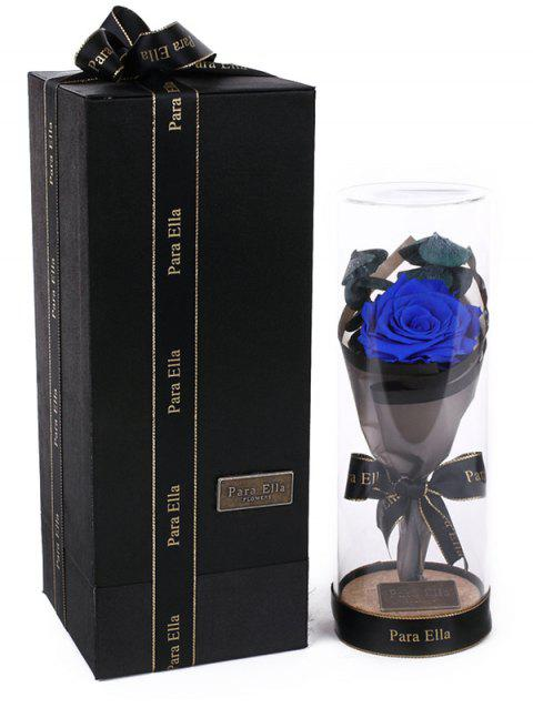 Valentines Day Artificial Rose Flower with LED Light - BLUEBERRY BLUE