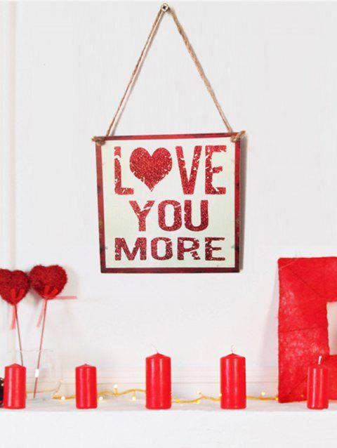 ce01a84a538 41% OFF  2019 Valentines Day LOVE YOU MORE Pattern Wooden Hanging ...