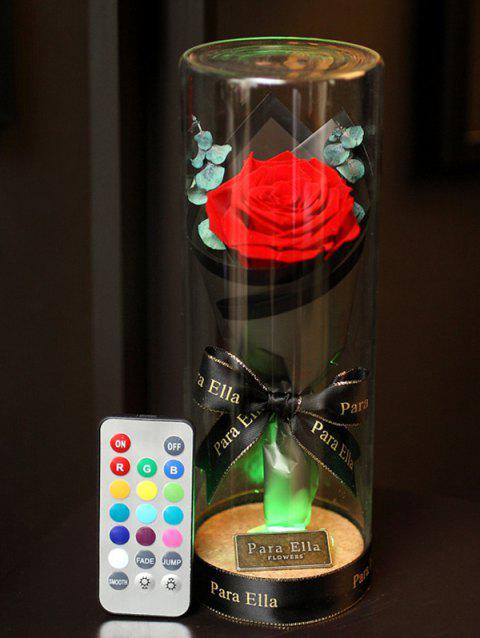 Valentines Day Artificial Rose Flower with LED Light - LAVA RED