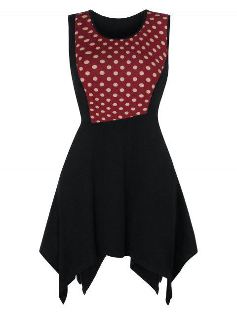 f38767ac78d LIMITED OFFER] 2019 Polka Dot Handkerchief Plus Size Tank Top In ...