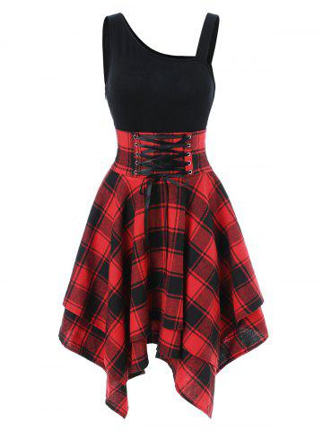 b3b20123e62d 2019 Red Plaid Dresses Online Store. Best Red Plaid Dresses For Sale ...