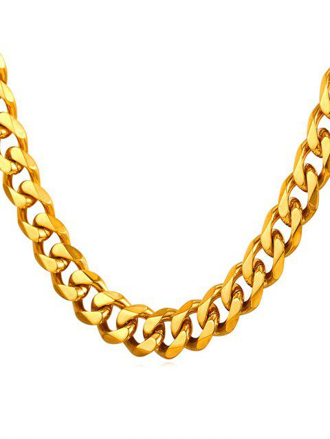Brief Style Metal Stainless Steel Chain Necklace - GOLD
