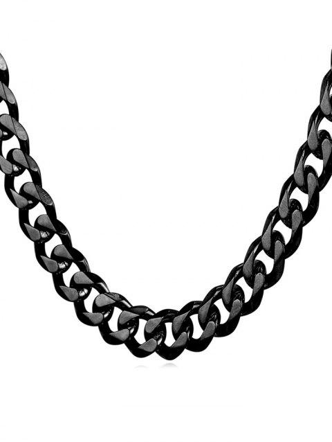 Brief Style Metal Stainless Steel Chain Necklace - BLACK